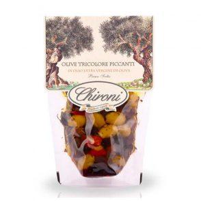 Olive tricolore denocciolate piccanti - Dreierlei Oliven pikant eingelegt