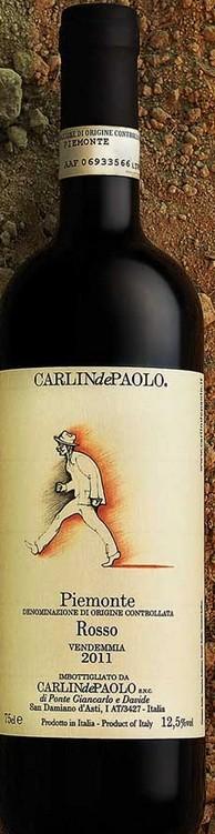 Rosso DOC Piemonte von CarlindePaolo - ein frischer und unkomplizierter Rotwein für den spontanen Genuß und ein universeller Begleiter