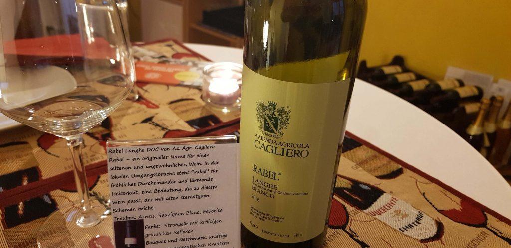 Wein der Verkostung: Rabel Langhe DOC