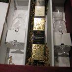 Grappaset Andrea Da Ponte bestehend aus zwei Miniflaschen Grappa von der Traditionsdestillerie Andrea Da Ponte und zwei formschönen Gläsern