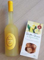Zitroniges Duo bestehend aus herrlich fruchtigem Limoncino vom Gardasee und dem unwiderstehlichen Gebäck Brutti ma buoni al Limoncello