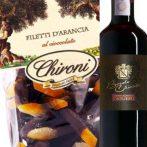 Süßes Duo Barolo Chinato mit Filetti d'Arancia