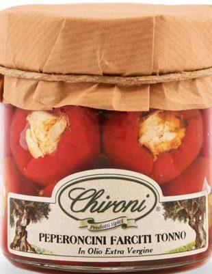 Peperoni mit Thunfisch gefüllt